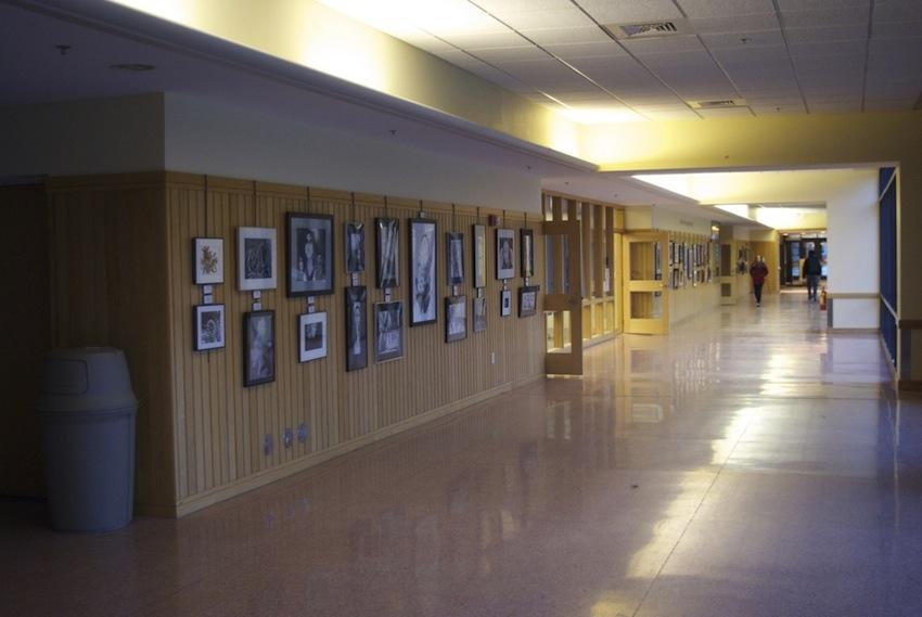 High School students display their art goods on campus.