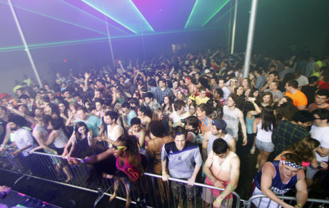 """Last Semester's Solarity event, <i>Awaken the Wild</i>, contained lightshows, performances and other features that the College deemed as characteristic of """"rave-culture."""" The administration specifically prohibited the use of lasers, blacklights, strobes, body paint, glow sticks or fruit slices at the upcoming event."""