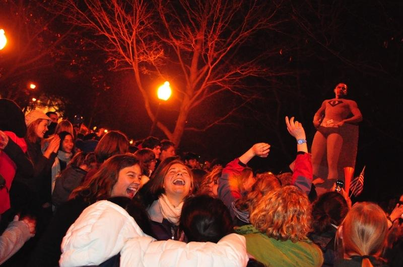 Students+celebrate+Obama%27s+re-election+at+the+Tappan+Square+bandstand+Tuesday+night.%0A%0ASeveral+jazz+majors+played+in+the+Tappan+Square+bandstand+to+celebrate+the+results+of+the+election+Tuesday+night.