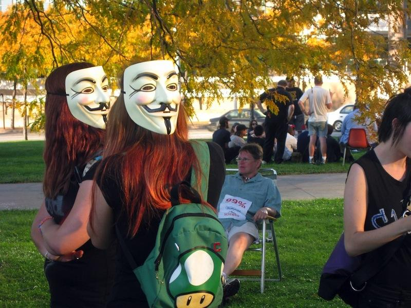 Oberlin students stood among Ohio residents in support of the Occupy Cleveland movement, an offshoot of Occupy Wall Street.