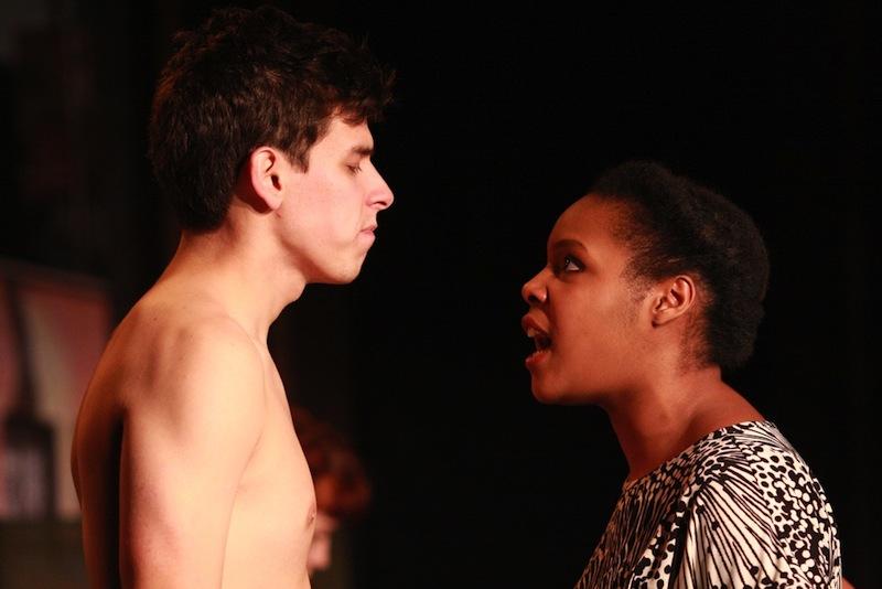 College seniors Robert Salazar and Karyn Todd captivate onstage in Strike-Slip.