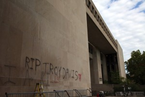 Graffiti written on the side of the Mudd Center suggests that the execution of Troy Davis last week speaks to the endemic, institutional nature of violence and injustice in the U.S. prison system.