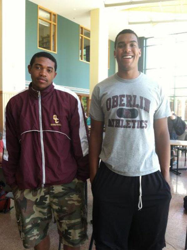 Sophomores Matt Walker (left) and Randy Ollie