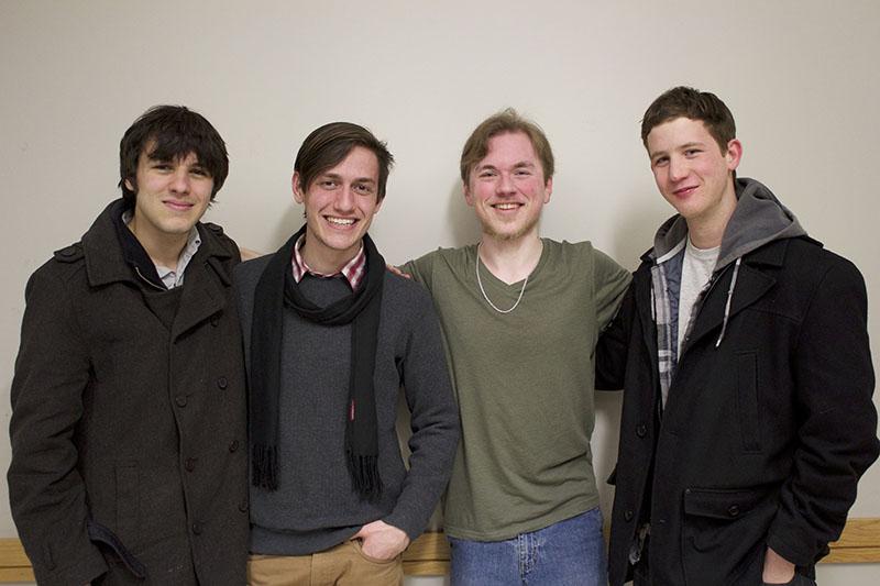 Seniors Johnnie Kallas (left), Eastman Presser, Griffin Sabelli and David Morris