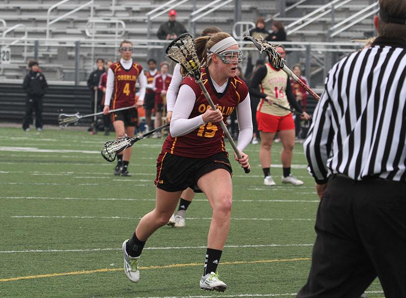 Junior+midfielder+Kate+Hanick+sprints+down+the+field+against+Otterbein+University.+Hanick+has+scored+three+goals+and+added+one+assist+in+the+Yeowomen%E2%80%99s+first+two+games.