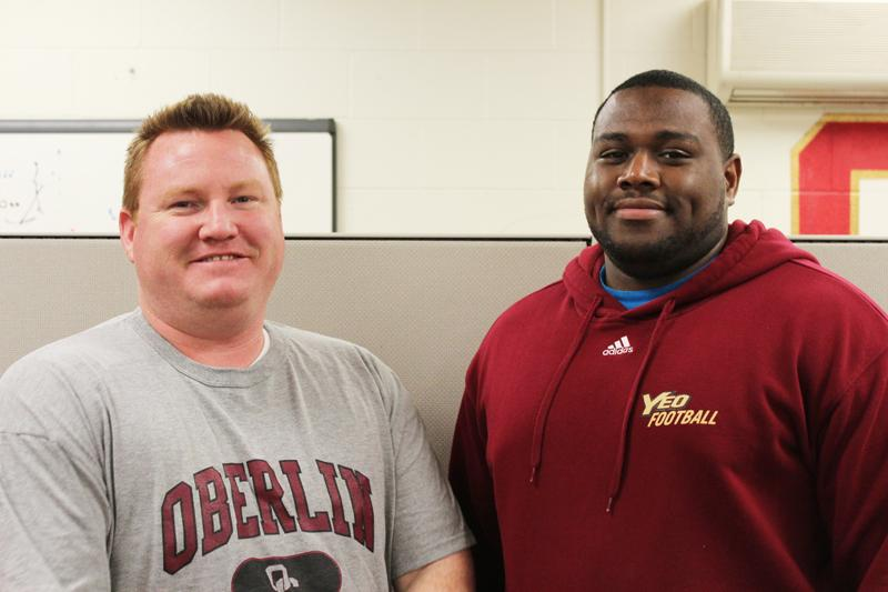 Assistant Football Coaches Bob Saunders and Nate Cole.