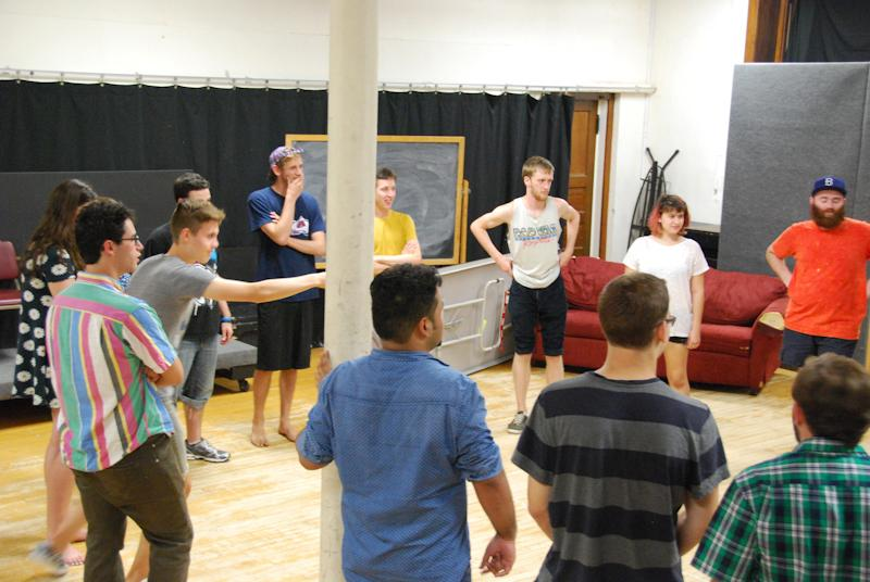 Prospective+improvisers+participate+in+games+during+auditions+for+Oberlin%E2%80%99s+trio+of+improv+troupes.+The+auditions+took+place+in+Warner+Gymnasium+and+spanned+the+course+of+three+days.