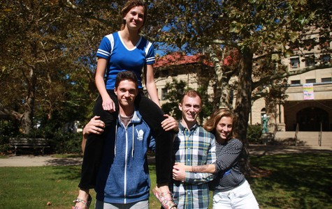 Lola Coombs (top left), Garret Coombs, Joshua Urso and Sarah Urso