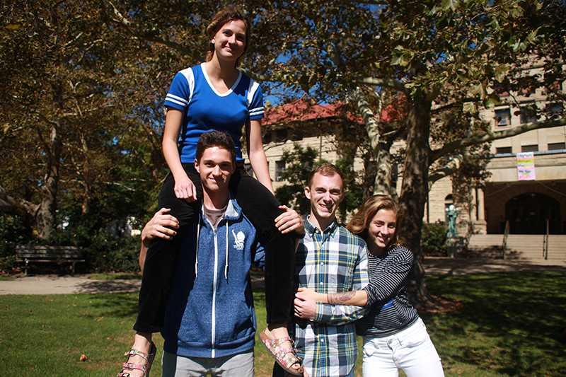 Lola Coombs (top left), Garret Coombs, Joshua Urso and Sarah Urso