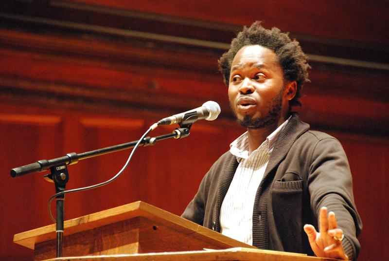 """Ishmael Beah, OC '04, former child soldier and best-selling author, gave a convocation this Tuesday titled """"An Evening with Ishmael Beah."""""""