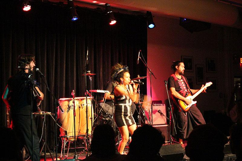 La Yegros performs for an intimate crowd at the Cat in the Cream in honor of Latinx Heritage Month. The concert was the first in the Argentina-based band's inaugural United States tour.