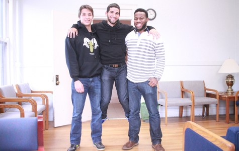 Senior Phillip Hsu (left), sophomore Joey Velez and fifth-year Shonari Edwards