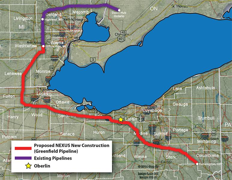 The proposed NEXUS pipeline will run through northeast Ohio and into Michigan. According to certain Oberlin community members and city officials, Spectra Energy, the company behind the pipeline, has provided conflicting information on the details of the project.
