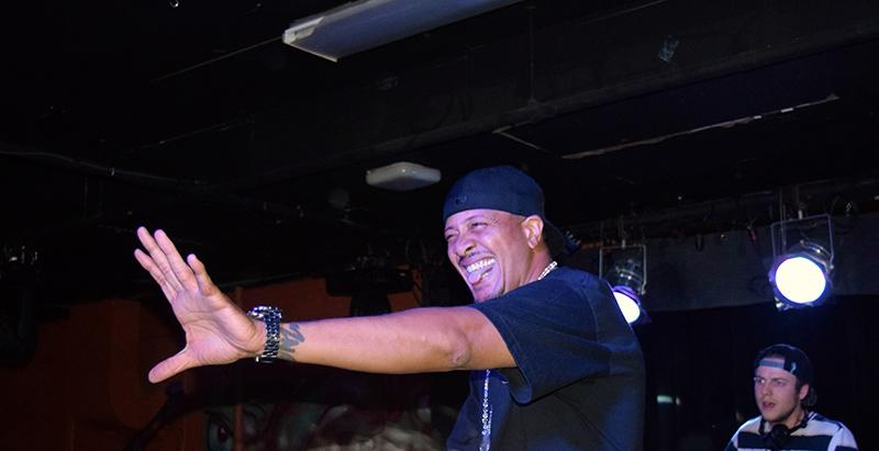 An animated Chali 2na attempts to liven up the 'Sco. Lackluster stage presence plagued the rap- per's Valentine's Eve performance.