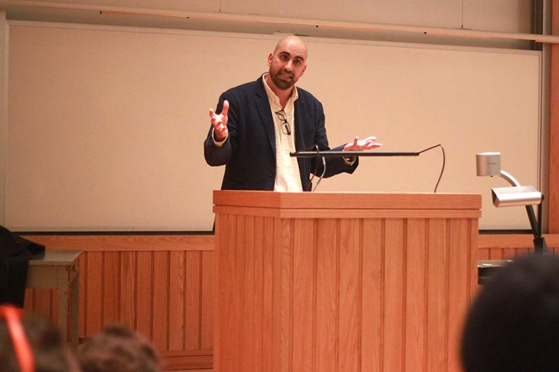 Steven Salaita, an academic and pro-Palestinian activist at the center of a Twitter controversy, who spoke at Oberlin on Tuesday night.