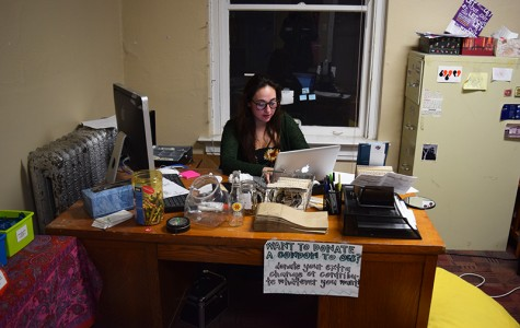 College junior Maya Wergeles holds office hours in the Sexual Information Center. The SIC plans to host a week of events which take a broad, intersectional view of sex and sexuality.