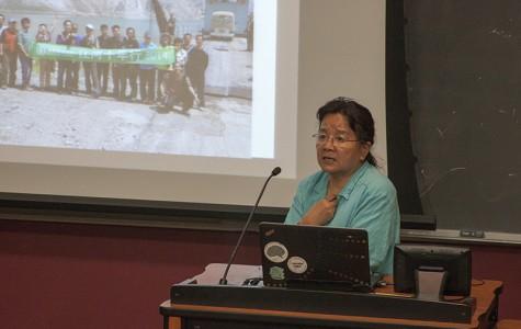 Wang Yongchen, environmental activist and reporter, who gave a talk on Tuesday