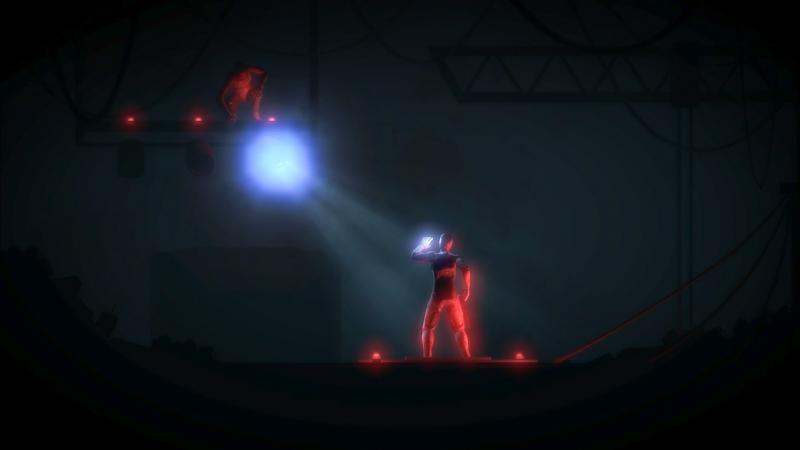 The protagonist of The Fall engages with a computer-controlled artificial intelligence enemy. The video game's narrative content outshines its gameplay.