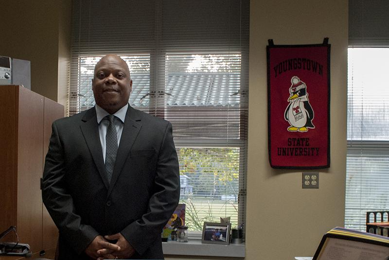 The new Oberlin Schools Superintendent David Hall stands in his office. The district has delayed plans to issue a bond in November to finance new school construction.