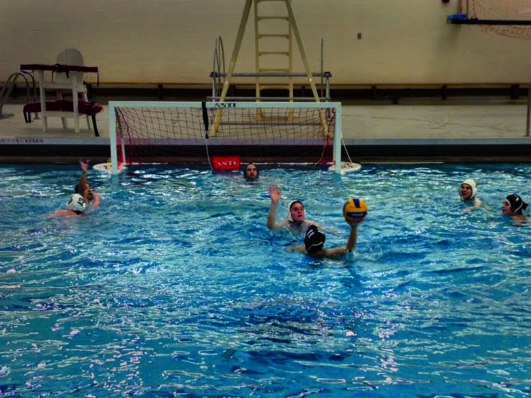 The water polo team gets in an offseason practice session. The water polo season begins in the spring; the Yeomen and Yeowomen hope to once again be competing in the Ohio Valley Division of the Club Level bracket within the CWPA.