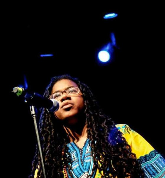 Kai Davis performs. The Temple University students work has achieved national recognition and earned her the title of National Brave New Voices Grand Slam Champion in 2011.