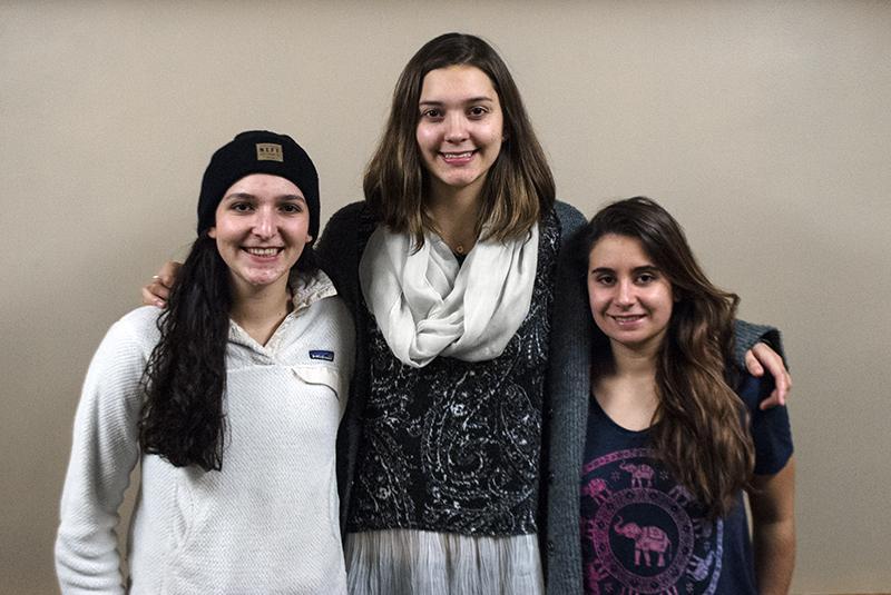 Sarah Feinberg (left), Olivia Canning and Sabrina DeLeonibus