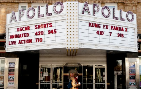 The Apollo Theatre marquee advertises several Oscar-nominated animated features, including Anomalisa. The film is a masterful piece of storytelling and design, writes Christian Bolles.