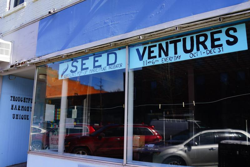 Ventures storefront depicts the recently closed store. The Shift Project, opening Feb. 22, will take over the space.