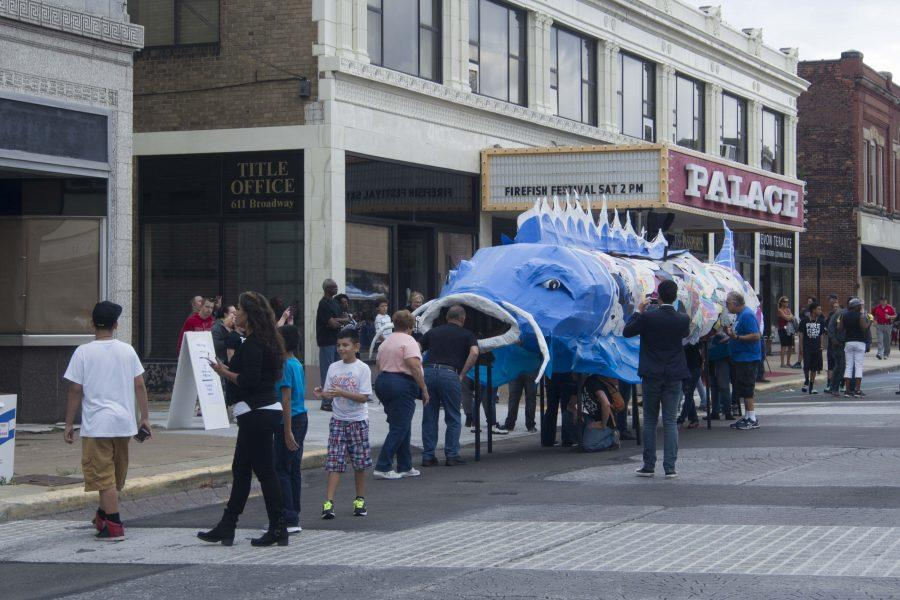 The community of Lorain gathered for the FireFish festival Saturday, a day-long celebration meant to expand the city's art scene and jumpstart the local economy. The main event involved marching a giant papier-mâché fish to the river and setting it ablaze.