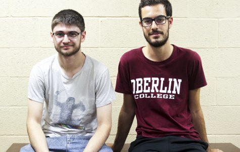 Caleb Anderson (left) and Felipe Ferriera