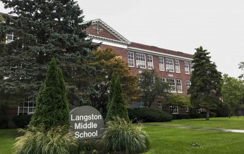 One of the Oberlin school district's four schools, Langston Middle School, sits on North Pleasant Street. The district is considering a variety of plans to consolidate space, as the current facilities are far larger than the district requires.