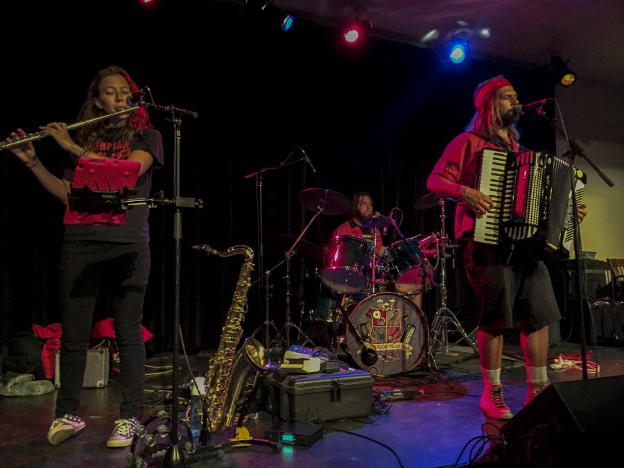 The Chardon Polka Band performed at the Cat Wednesday, showcasing a variety of poppy tunes with energetic whimsy.