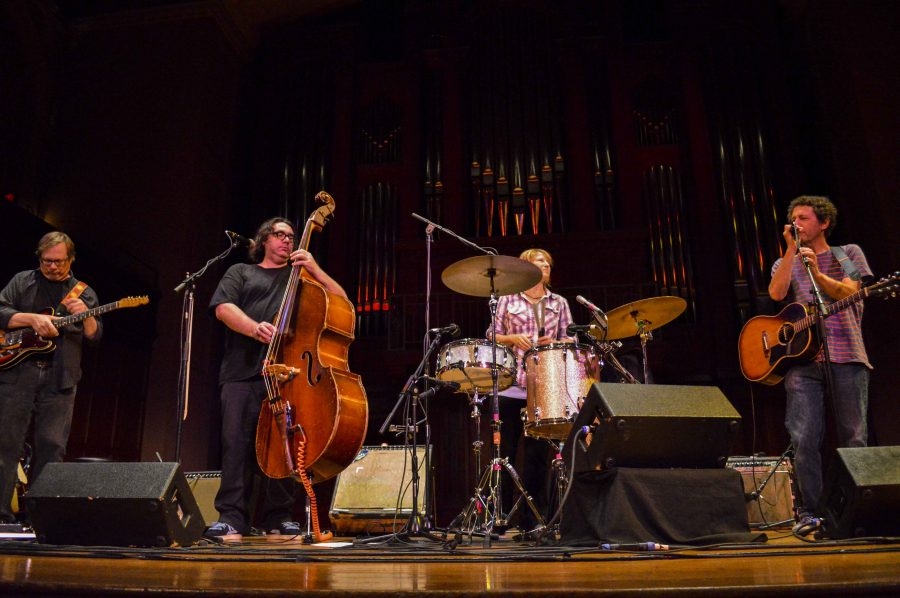 Yo La Tengo performed with frontman Ira Kaplan in Finney Chapel Sunday. The famed indie rock group played an understated acoustic set for an enthusiastic audience.