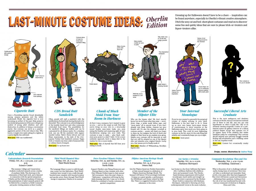 Last-Minute Costume Ideas: Oberlin Edition