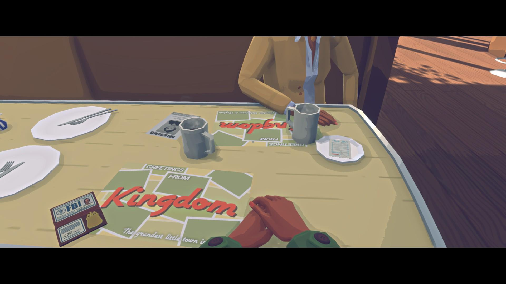 FBI agents Anne Tarver and Maria Halperin enjoy coffee in silence at a small-town diner in developer Variable State's debut game, Virginia.