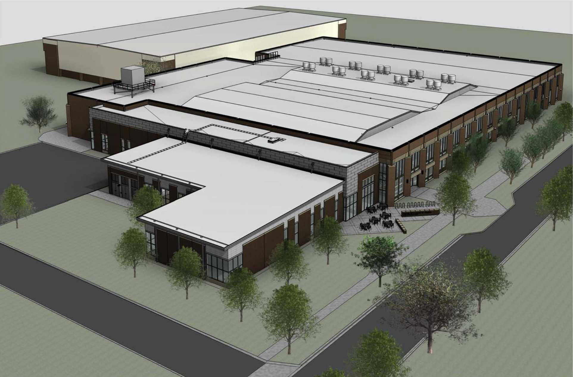 A model of the recently approved expansion of Philips gym. The expansion will include several new fitness rooms and a renovation of Carr Pool.