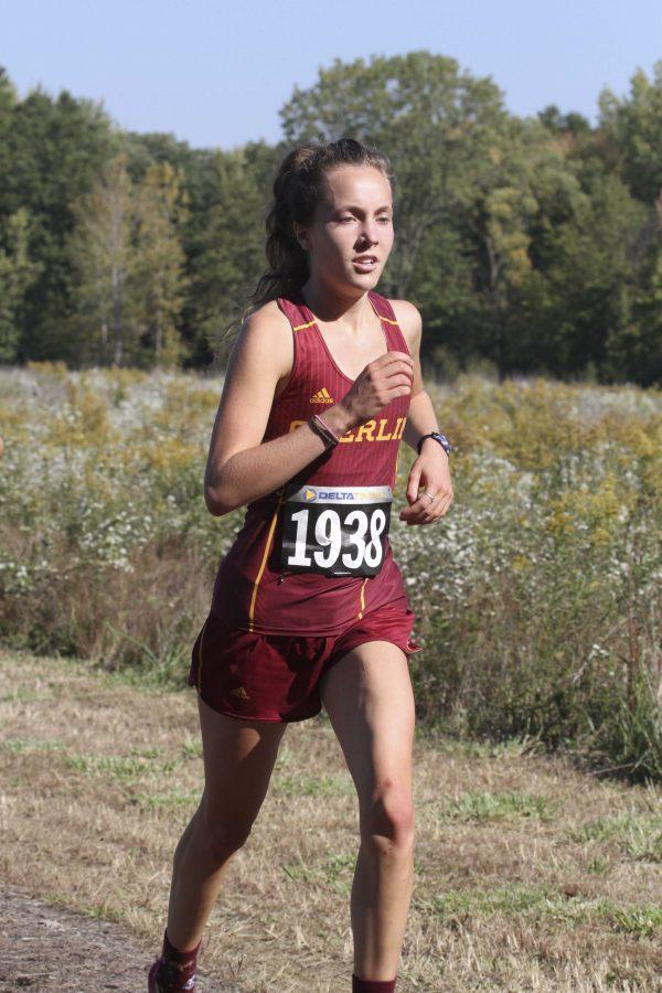 Sophomore Linnea Halsten races at the Great Lakes Regional Championships, where she recorded a 21 minute, 27.2 second finish in the 6k last Saturday. Her ninth-place finish earned her a spot at the NCAA Cross Country Championships in Louisville, KY, tomorrow.