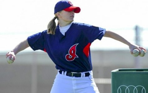 Justine Siegal makes history pitching at Cleveland's batting practice.