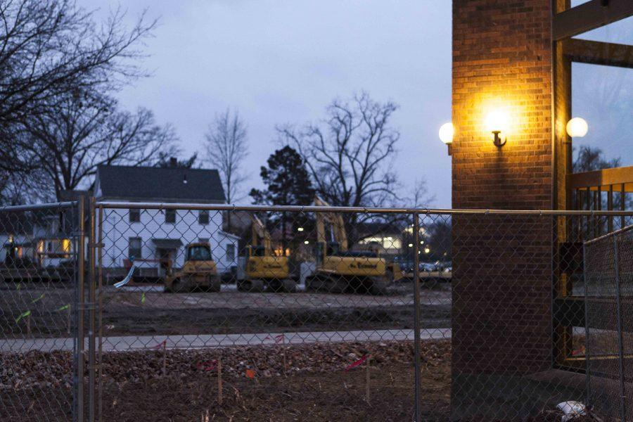 Diggers at the Philips gym expansion site lie idle Thursday. Student activists pushing for student representatives on the board hope that future capital planning decisions will account for student input.