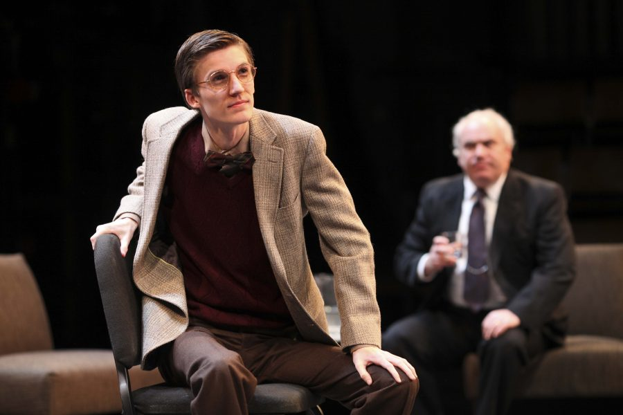 From+left+to+right%2C+College+sophomore+Brian+Weaver+and+actor+George+Roth+perform+during%0ATuesday%E2%80%99s+dress+rehearsal+of+Peter+Sagal%E2%80%99s+Denial+in+Hall+Auditorium.