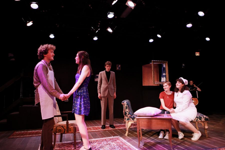 Cast+members+perform+in+a+dress+rehearsal+of+Sarah+Ruhl%E2%80%99s+Melancholy+Play+in+preparation+for+weekend+performances.