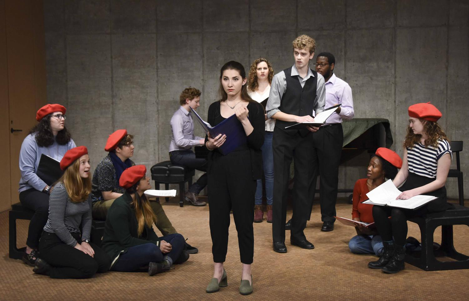 Student actors staged a dramatic reading of The Enchanted, a work in progress by John Kander, OC '51, and Greg Pierce, OC '00.