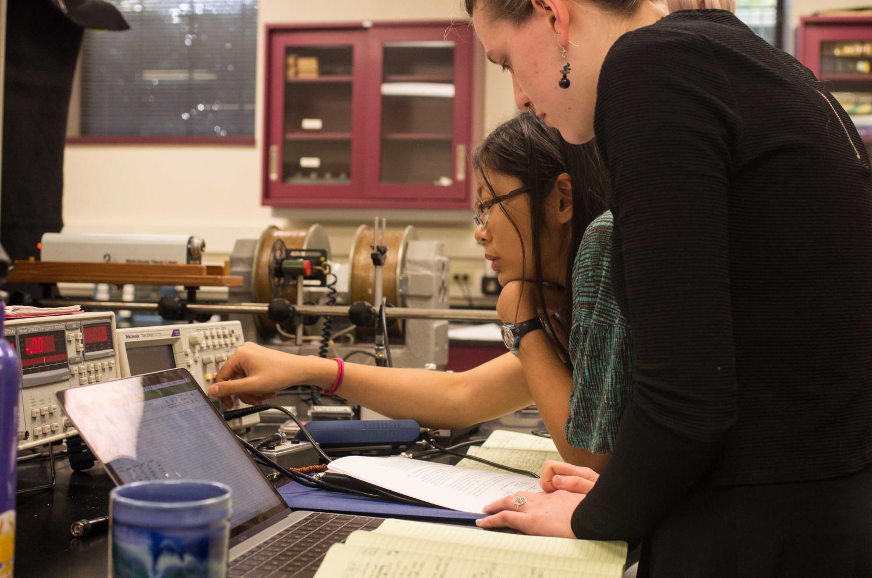 Alex Vera, OC '17, conducts research in Associate Professor of Chemistry Jason Belitsky's lab.