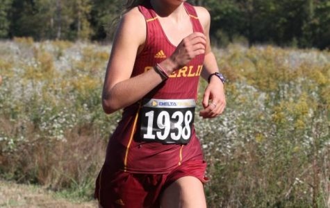 Junior Linnea Halsten makes her rounds in last year's Rumble, the annual Oberlin Cross Country home meet.
