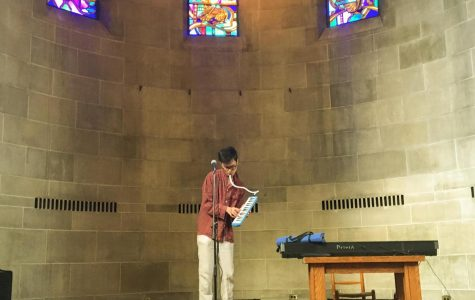 Buffalo-based musician Derick Evans performed an experimental show in Fairchild Chapel last Friday night, which included his original one-act musical Through The Night.