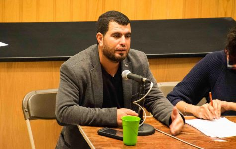 Palestinian field researcher and spokesperson Nasser Nawaj'ah shared his personal experiences and promoted student activism in Craig Lecture Hall Wednesday.