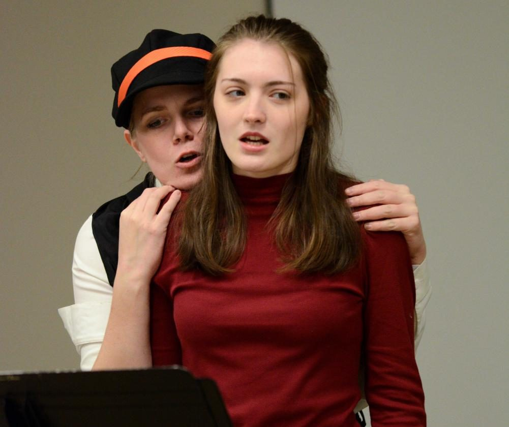 Students premiere a staged reading of College senior Sam Marchiony's original one-act play, Women of Will, a feminist take on Shakespeare's plays and female characters.