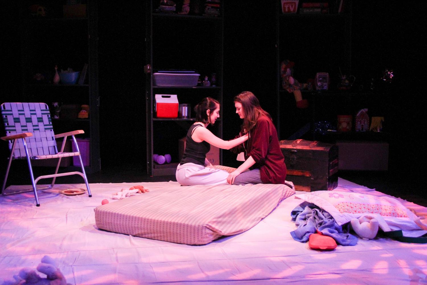 Students stage Chamber Play in Kander Theater. Chamber Play is a dark drama about amnesia and sexual abuse written by Amanda Faye Martin and directed by College senior Zoë Kushlefsky.