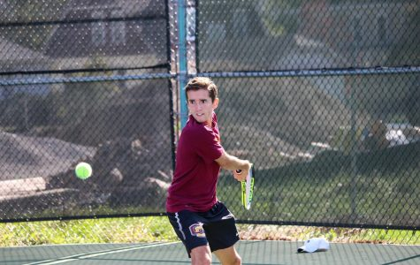 Senior Michael Drougas celebrated his illustrious collegiate career at Senior Day last Saturday with an 8–1 victory against Ohio Wesleyan University. Drougas and fellow senior Manickam Manickam sealed an 8–5 victory at No. 2 doubles.