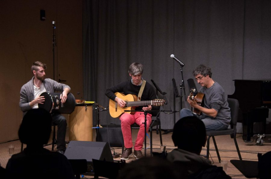 Acclaimed+Brazilian+guitarists+Rog%C3%A9rio+Souza+and+Edinho+Gerber%2C+with+percussionist+Lucas+Ashby%2C+perform+a+program+of+Brazilian+music+in+the+Birenbaum+Innovation+and+Performance+space+Tuesday+night.
